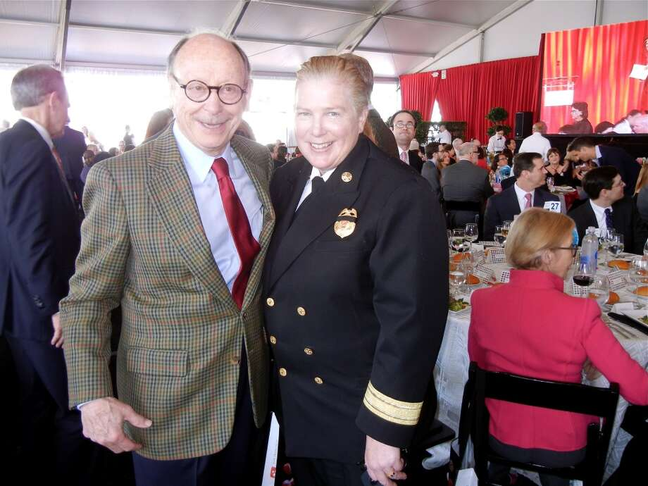 Philanthropist Bernard Osher and SFFD Chief Joanne Hayes-White. Photo: Catherine Bigelow
