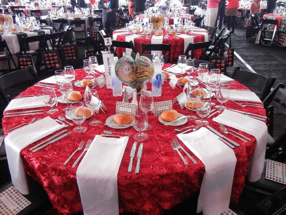 Colorful tables at the Heroes & Hearts fundraiser lunch. Photo: Catherine Bigelow