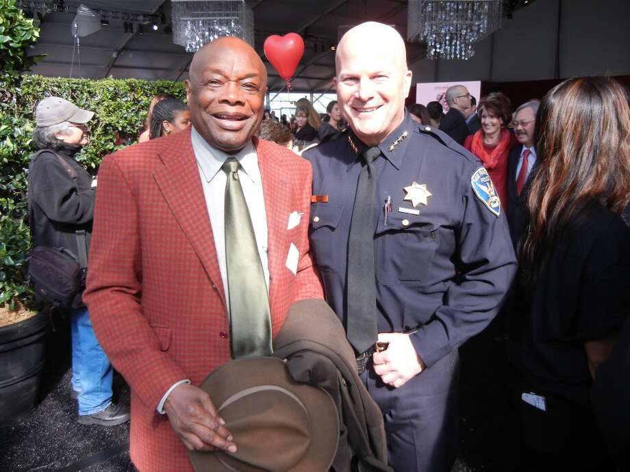 Willie Brown (at left) and SFPD Chief Greg Suhr. Photo: Catherine Bigelow