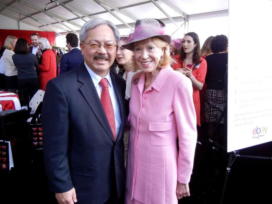 Mayor Ed Lee and Protocol Chief Charlotte Shultz. Photo: Catherine Bigelow