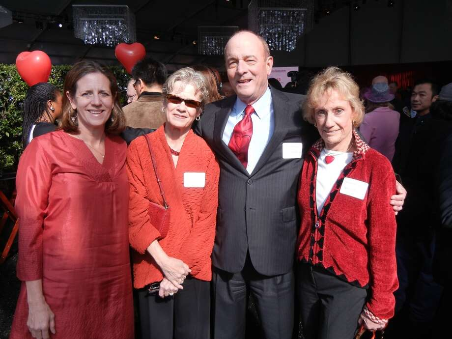 SF Giants' exec Staci Slaughter (at left) with Tina and John Keker and Hearts event co-founder Nancy Bechtle. Photo: Catherine Bigelow