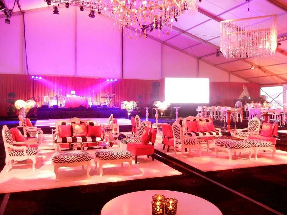 Lounge-style seating set the scene within the Hearts After Dark tent. Photo: Catherine Bigelow
