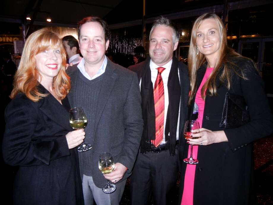 Saralyn and Brian Sheehy (at left) with Kerry Egan and his wife, Jamie Egan. Photo: Catherine Bigelow