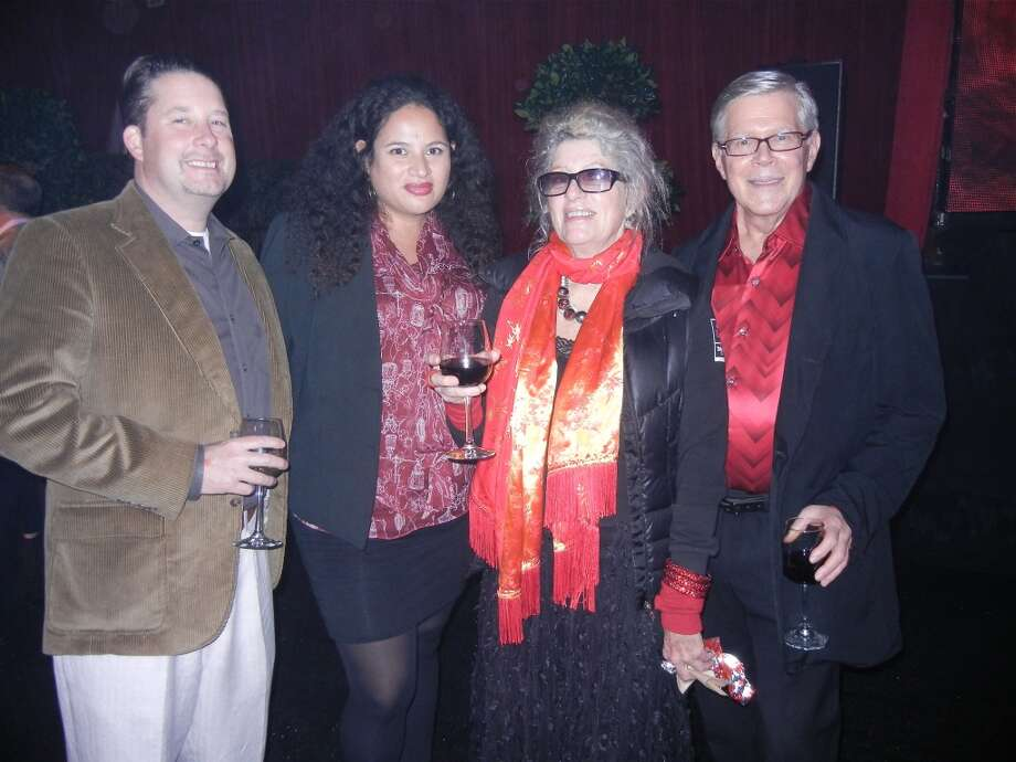 Mac Liebert (at left) with his sister, Lei Levi, mom Flicka McGurrin and Chuck Roth. Photo: Catherine Bigelow