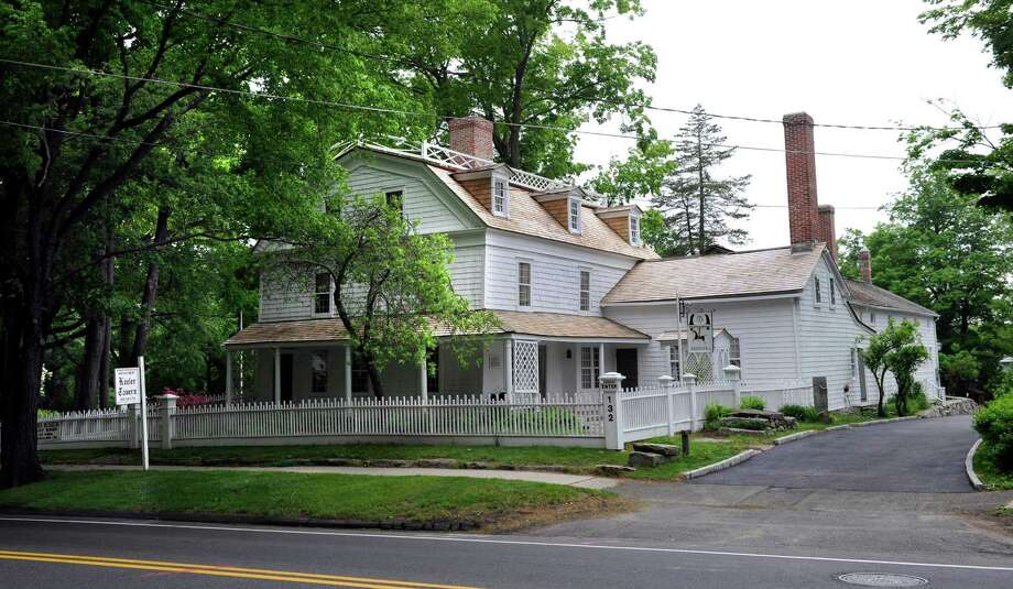 The Keeler Tavern Museum & Garden House on Main Street in Ridgefield. The Ridgefield Chamber will host an event with SCORE here on Thursday. Photo: Carol Kaliff / The News-Times