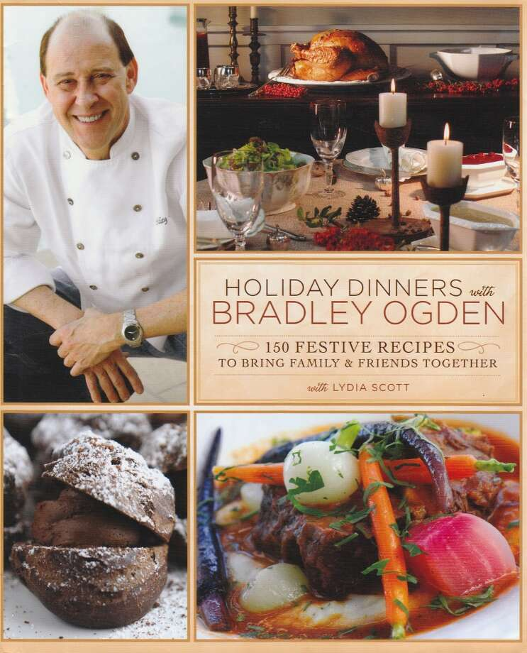 "Cover of Bradley Ogden's latest cookbook, ""Holiday Dinners with Bradley Ogden."" (Photo: Bradley Ogden Hospitality)"
