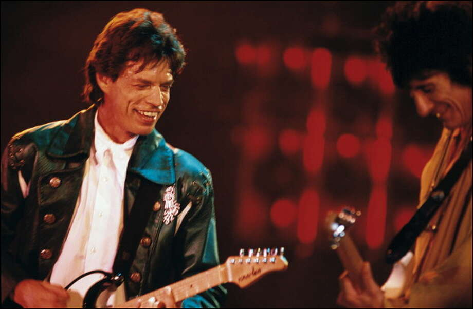 Mick Jagger, Bill Wyman in Toronto, Canada on September 05, 1989.  (Photo by Alain BENAINOUS/Gamma-Rapho via Getty Images) Photo: Alain BENAINOUS, Gamma-Rapho Via Getty Images / 2011 Gamma-Rapho