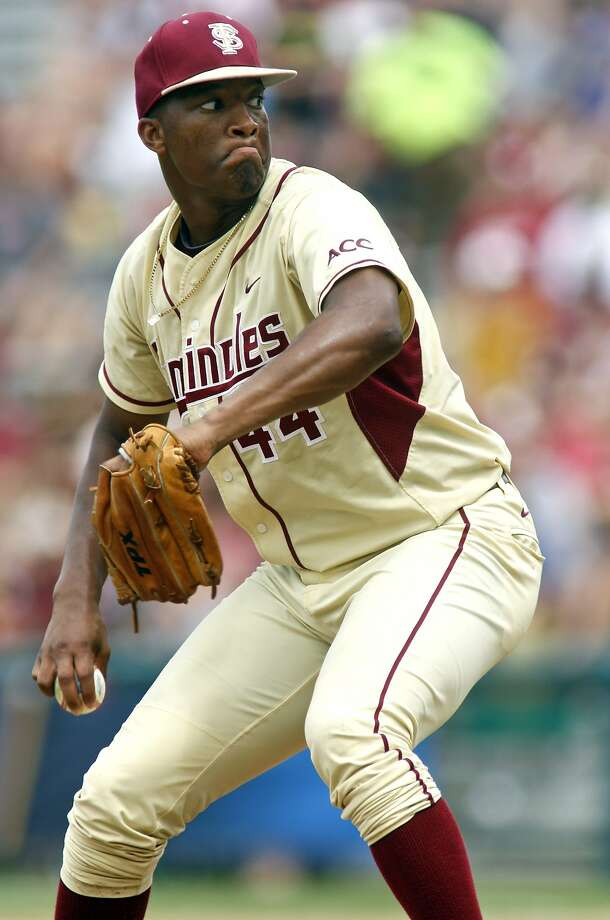 Jameis Winston is the closer for Florida State, but also plays outfield and was named a third-team preseason All-American as a utility player by Baseball America. Photo: Phil Sears, Associated Press