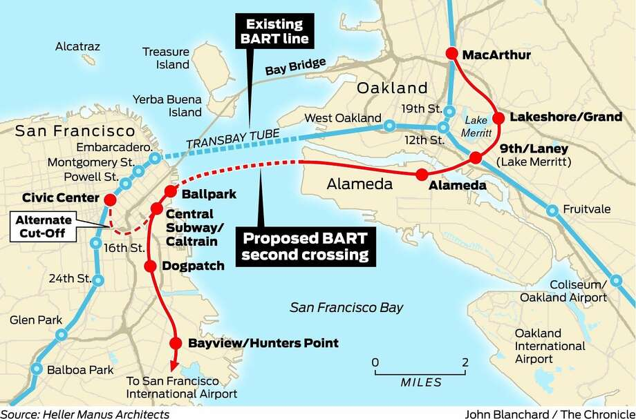 2nd Bart Tube Under The Bay Would Serve Region Well Sfgate