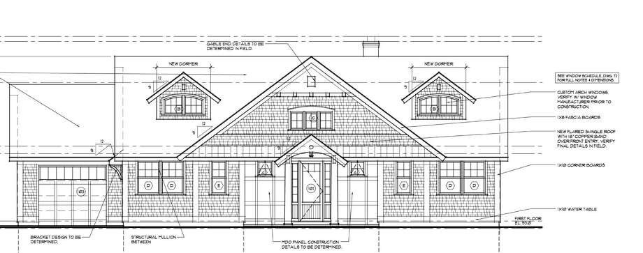 A blueprint of the Dream House local builder Tim Muldoon is working on Photo: Contributed Photo / Greenwich Citizen