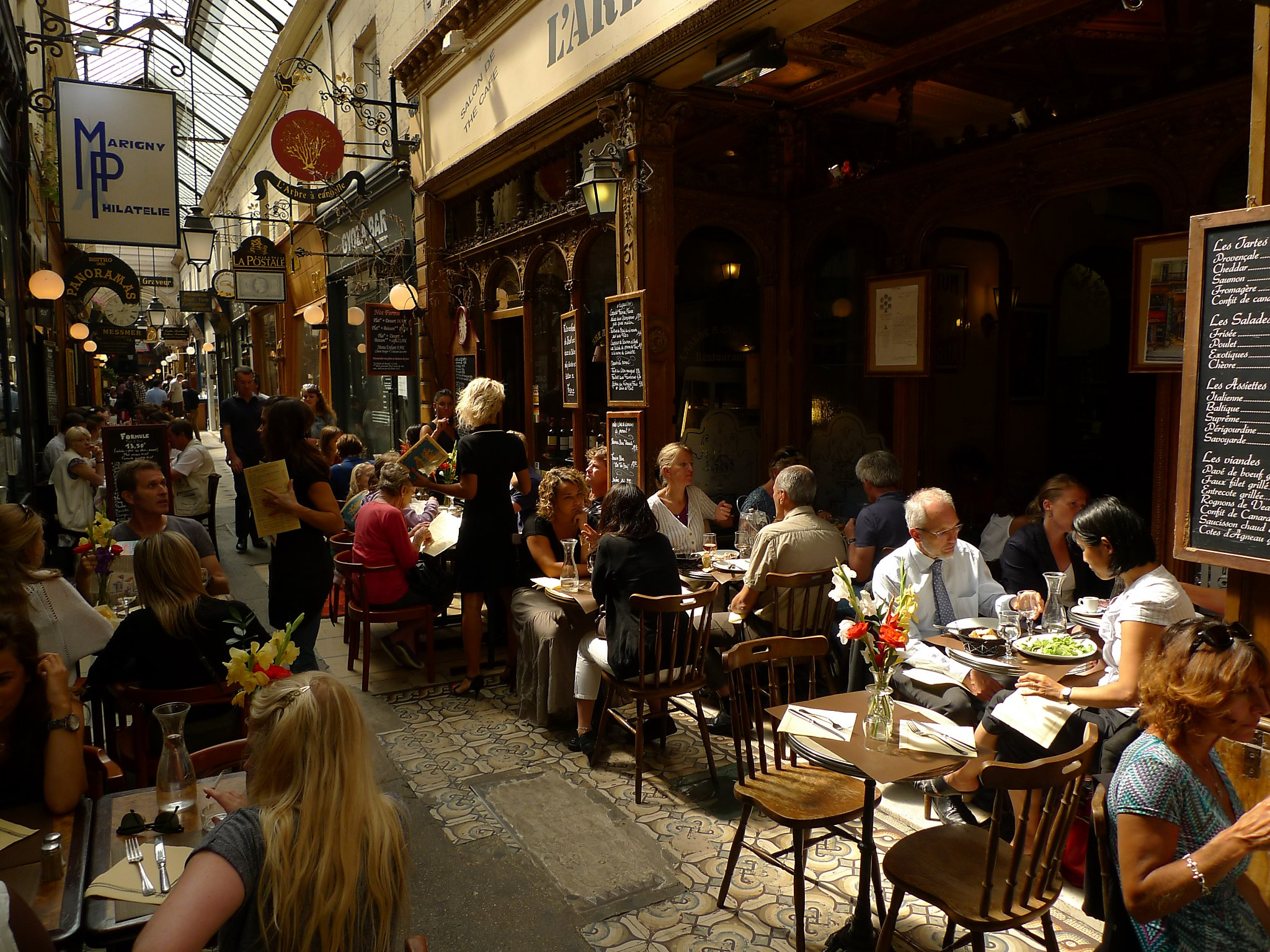 sample of paris life at 19th century shopping arcades