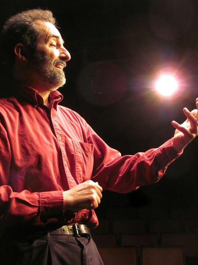 """Charlie Varon plays several people in """"Feisty Old Jew."""" Photo: Myra Levy"""