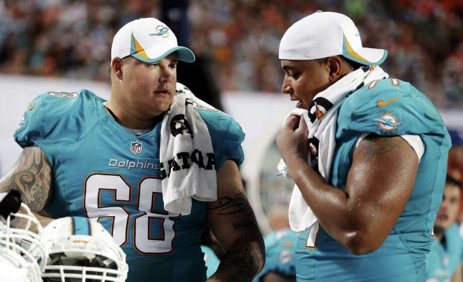"Richie Incognito (left) has previously expressed regret about taunting Dolphins teammate Jonathan Martin, saying it stemmed from a culture of locker-room ""brotherhood,"" not bullying. Photo: Associated Press File Photo / AP"