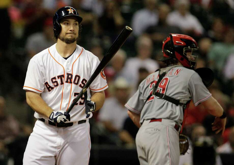 After passing through waivers, Brett Wallace is getting another chance with the Astros during spring training. Photo: Melissa Phillip, Staff / © 2013  Houston Chronicle