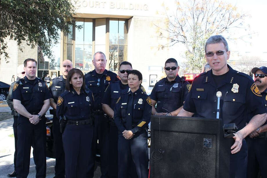 """The last thing we want to do is to embarrass someone"" at work or in front of family to make warrant arrests, Chief William McManus said. Photo: Courtesy Of The San Antonio Police Department / SOURTESY OF SAPD"