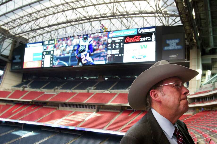 Leroy Shafer, at Reliant Stadium, will step down as COO of the Houston Livestock Show and Rodeo in September when he turns 70. This year's show runs from March 4-23 at Reliant Park. Photo: Brett Coomer, Staff / © 2013 Houston Chronicle