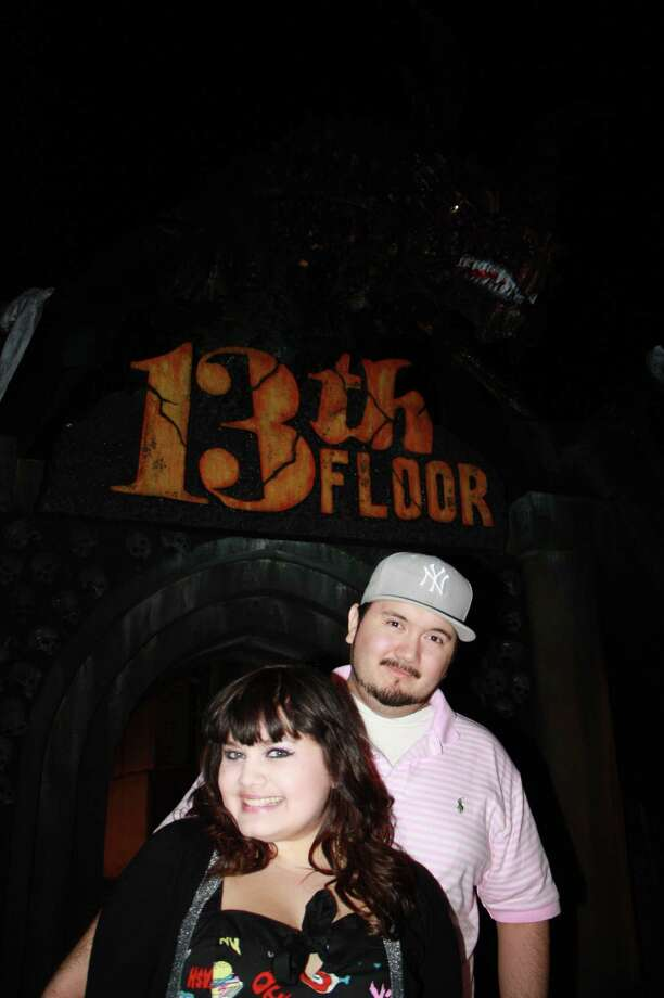 Check out who had a spooky Valentine's Day date at the 13th Floor Haunted House. Photo: Photos By Libby Castillo, For MySA.com
