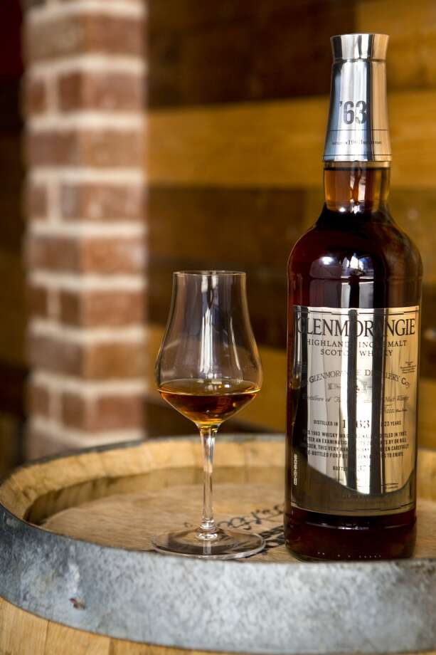 Glenmorangie 1963, a rare, single malt whiskey. Only 50 bottles made and Reserve 101, a whiskey bar in downtown Houston has the only bottle in Texas. (Photo:  Marie D. De Jesús / Houston Chronicle ) Photo: Marie D. De Jesús, Houston Chronicle