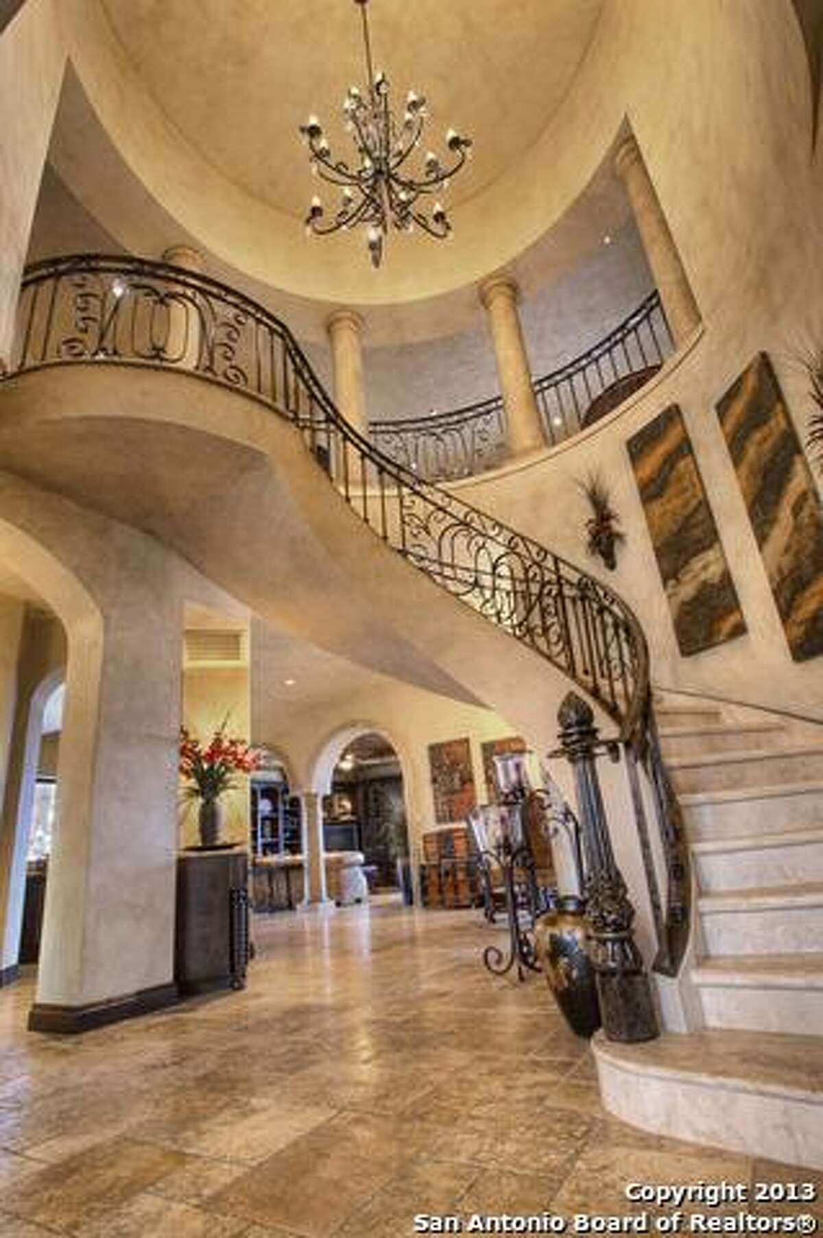 Perched upon the precipice of a majestic hilltop with views for miles, this grand estate is a turn-key, completely furnished, magnificent offering. Asking price: $3,500,000 215 Majestic Ridge Comfort, TX Features: Bedrooms: 4Baths, 5, 1 Partial Baths9,315 Sq FtListing: Keller Williams Realty Luxury
