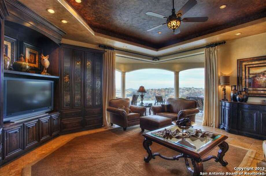 Perched upon the precipice of a majestic hilltop with views for miles,  this grand estate is a turn-key, completely furnished, magnificent  offering. Asking price: $3,500,000 215 Majestic Ridge Comfort, TX Features: Bedrooms: 4Baths, 5, 1 Partial Baths9,315 Sq FtListing: Keller Williams Realty Luxury Photo: San Antonio Board Of Realtors