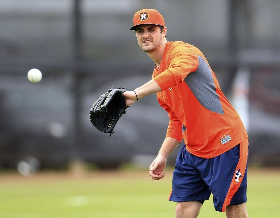 Astros pitcher Nick Tropeano works out at spring training. Photo: Karen Warren, Houston Chronicle