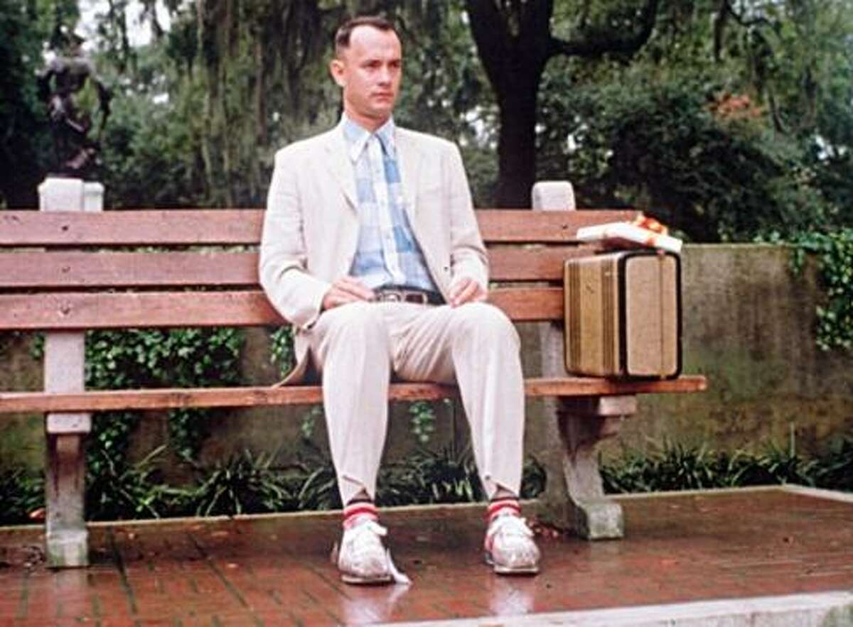 1994's 'Forrest Gump,' starring Tom Hanks. The iconic movie depicts the life of a man who is admittedly