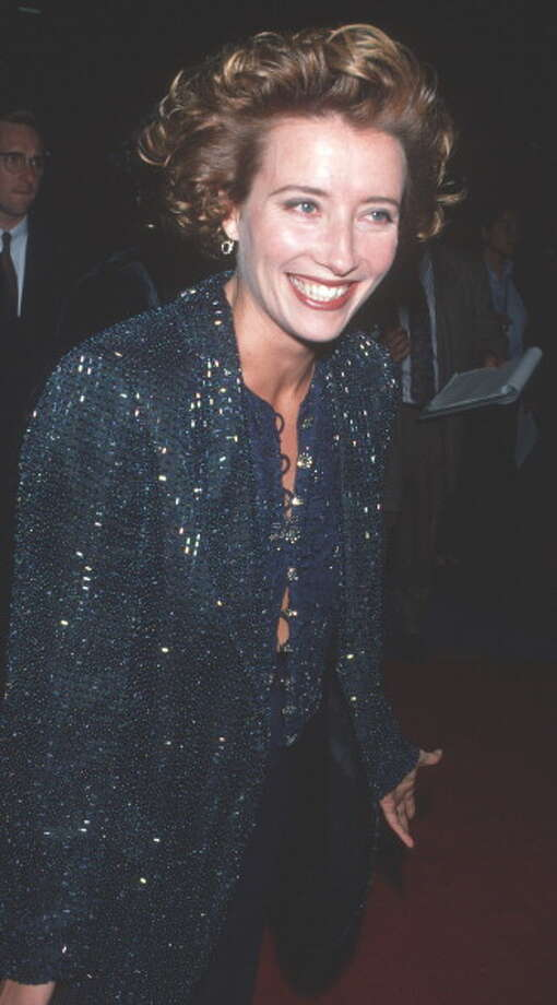 "Emma Thompson during ""Junior"" Los Angeles Premiere - December 14, 1994 at Universal Cineplex Odeon Theater in Universal City, California, United States. (Photo by Ron Galella, Ltd./WireImage) Photo: Ron Galella, Ltd., WireImage / Ron Galella Collection"