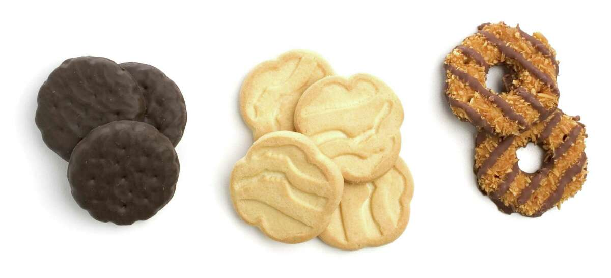 Stellar desserts from the all-too-brief Girl Scout selling season include thin mint cookies, shortbread cookies, and caramel delight cookies, among others.