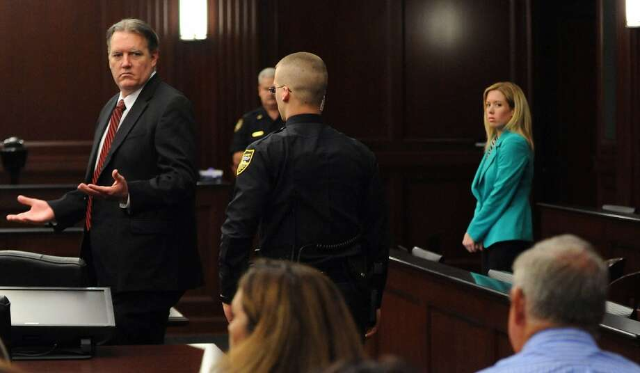 Defendant Michael Dunn reacts after the verdict was read. A mistrial was declared on a murder charge. He was convicted of lesser charges. Photo: Bob Mack, Associated Press