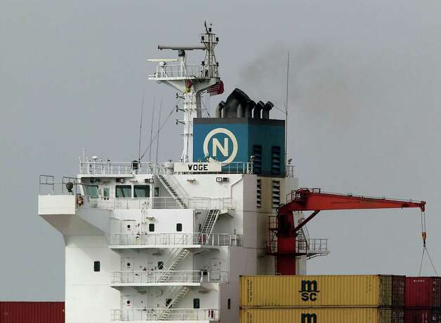Marine vessels are a significant source of air pollution that sometimes reaches the suburbs here. New regulations to control pollutants went into effect in 2012 with more stringent requirements on the way. Photo: James Nielsen, Staff / © 2013  Houston Chronicle