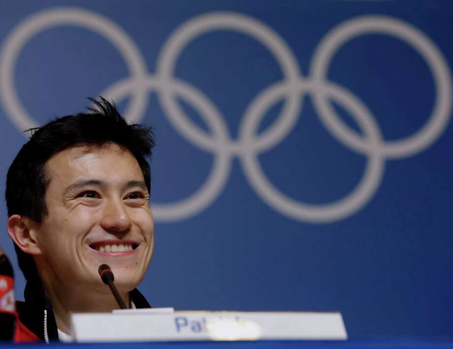Silver medalist figure skater Patrick Chan, of Canada, speaks at a news conference at the 2014 Winter Olympics, Saturday, Feb. 15, 2014, in Sochi, Russia. (AP Photo/Morry Gash) ORG XMIT: OLYMG102 Photo: Morry Gash / AP