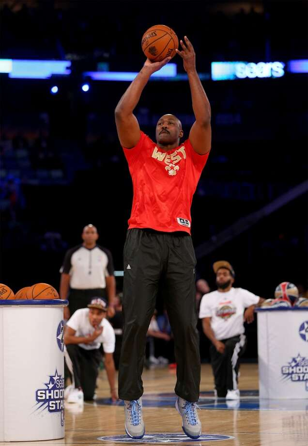 NEW ORLEANS, LA - FEBRUARY 15: Western Conference All-Star Legend Karl Malone takes a shot during the Sears Shooting Stars Competition 2014 as part of the 2014 NBA All-Star Weekend at the Smoothie King Center on February 15, 2014 in New Orleans, Louisiana. NOTE TO USER: User expressly acknowledges and agrees that, by downloading and or using this photograph, User is consenting to the terms and conditions of the Getty Images License Agreement.  (Photo by Ronald Martinez/Getty Images) Photo: Ronald Martinez, Getty Images