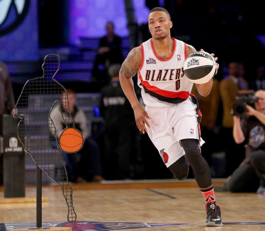 NEW ORLEANS, LA - FEBRUARY 15:  Western Conference All-Star Damian Lillard #0 of the Portland Trail Blazers competes in the Taco Bell Skills Challenge 2014 as part of the 2014 NBA All-Star Weekend at the Smoothie King Center on February 15, 2014 in New Orleans, Louisiana. NOTE TO USER: User expressly acknowledges and agrees that, by downloading and or using this photograph, User is consenting to the terms and conditions of the Getty Images License Agreement.  (Photo by Ronald Martinez/Getty Images) Photo: Ronald Martinez, Getty Images