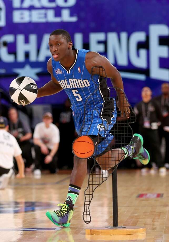 NEW ORLEANS, LA - FEBRUARY 15:  Eastern Conference All-Star Victor Oladipo #5 of the Orlando Magic competes during the Taco Bell Skills Challenge 2014 as part of the 2014 NBA All-Star Weekend at the Smoothie King Center on February 15, 2014 in New Orleans, Louisiana. NOTE TO USER: User expressly acknowledges and agrees that, by downloading and or using this photograph, User is consenting to the terms and conditions of the Getty Images License Agreement.  (Photo by Ronald Martinez/Getty Images) Photo: Ronald Martinez, Getty Images