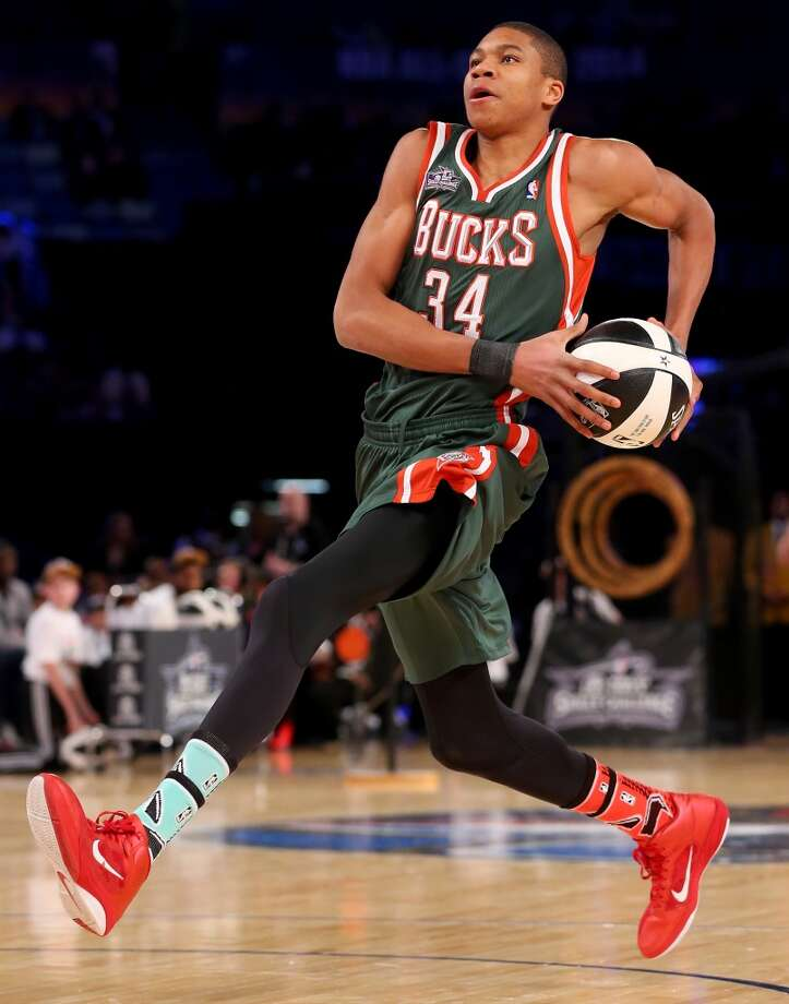NEW ORLEANS, LA - FEBRUARY 15:  Eastern Conference All-Star Giannis Antetokounmpo #34 of the Milwaukee Bucks competes in the Taco Bell Skills Challenge 2014 as part of the 2014 NBA All-Star Weekend at the Smoothie King Center on February 15, 2014 in New Orleans, Louisiana. NOTE TO USER: User expressly acknowledges and agrees that, by downloading and or using this photograph, User is consenting to the terms and conditions of the Getty Images License Agreement.  (Photo by Ronald Martinez/Getty Images) Photo: Ronald Martinez, Getty Images