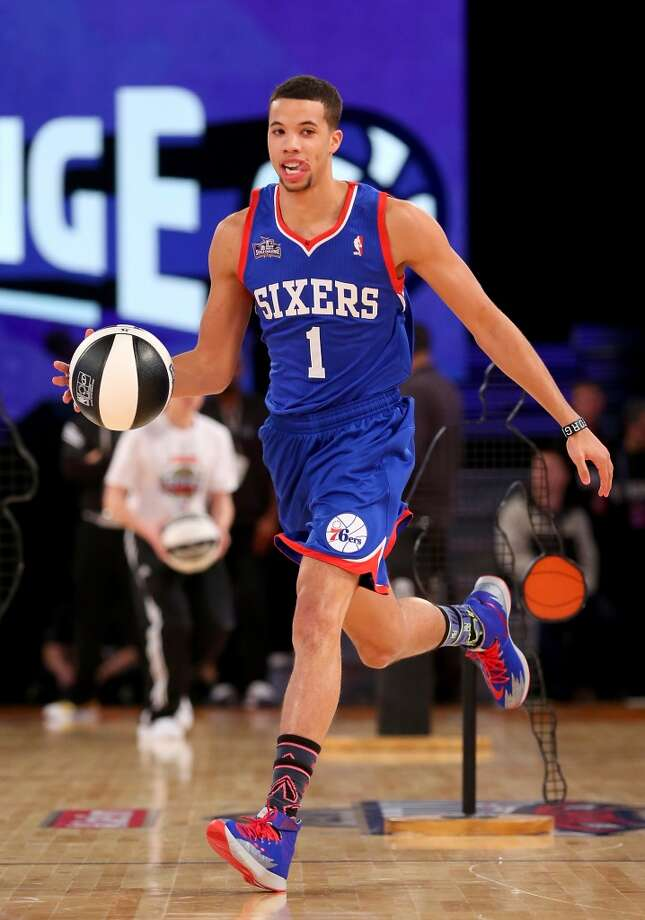 NEW ORLEANS, LA - FEBRUARY 15:  Eastern Conference All-Star Michael Carter-Williams #1 of the Philadelphia 76ers competes in the Taco Bell Skills Challenge 2014 as part of the 2014 NBA All-Star Weekend at the Smoothie King Center on February 15, 2014 in New Orleans, Louisiana. NOTE TO USER: User expressly acknowledges and agrees that, by downloading and or using this photograph, User is consenting to the terms and conditions of the Getty Images License Agreement.  (Photo by Ronald Martinez/Getty Images) Photo: Ronald Martinez, Getty Images