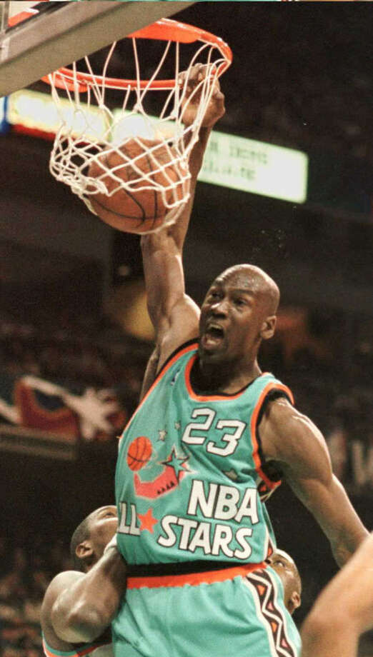 Michael Jordan was MVP of the 1996 All-Star Game, which was held at the Alamodome. Photo: Getty Images File Photo / AFP