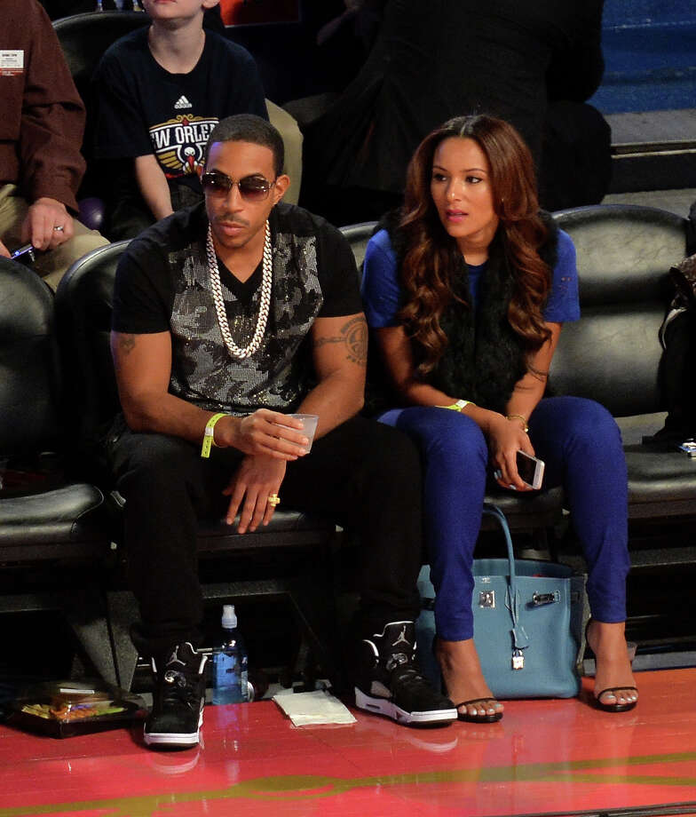 NEW ORLEANS, LA - FEBRUARY 15:  Rapper Ludacris (L) and Eudoxie Agnan attend the State Farm All-Star Saturday Night during the NBA All-Star Weekend 2014 at The Smoothie King Center on February 15, 2014 in New Orleans, Louisiana. Photo: Mike Coppola, Getty Images / 2014 Getty Images