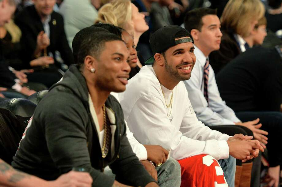 NEW ORLEANS, LA - FEBRUARY 15: Nelly (L) and Drake attend the State Farm All-Star Saturday Night during the NBA All-Star Weekend 2014 at The Smoothie King Center on February 15, 2014 in New Orleans, Louisiana. Photo: Mike Coppola, Getty Images / 2014 Getty Images