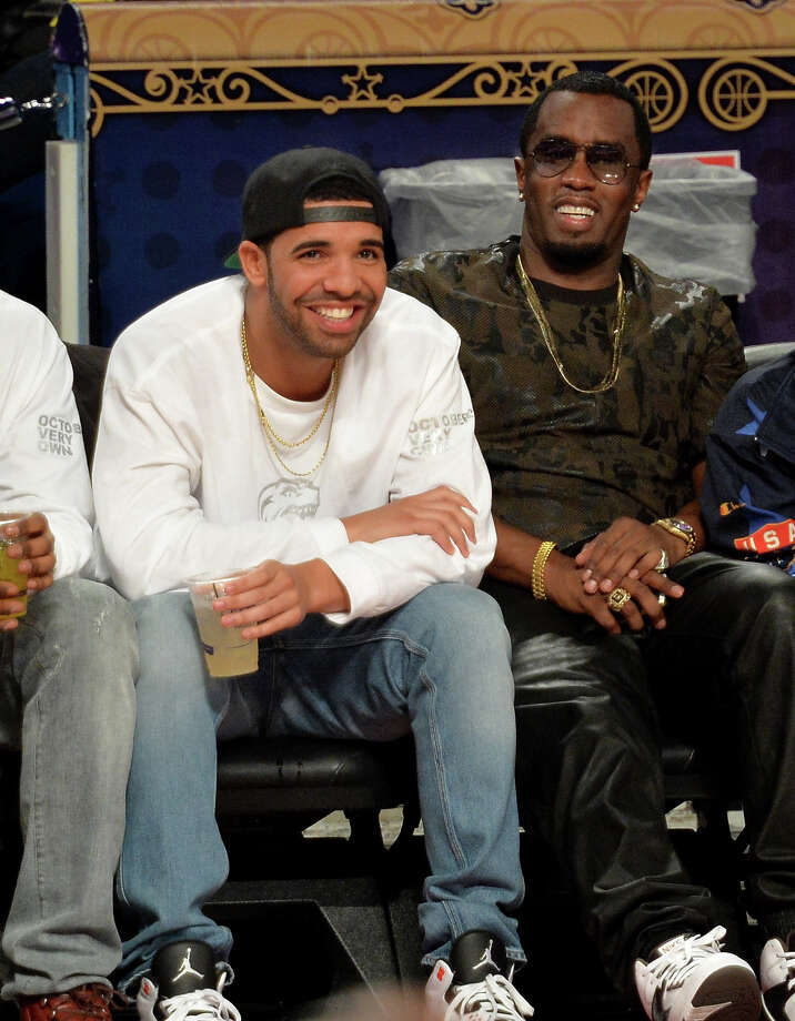 NEW ORLEANS, LA - FEBRUARY 15:  Musicians Drake (L) and Sean Combs attend the State Farm All-Star Saturday Night during the NBA All-Star Weekend 2014 at The Smoothie King Center on February 15, 2014 in New Orleans, Louisiana. Photo: Mike Coppola, Getty Images / 2014 Getty Images