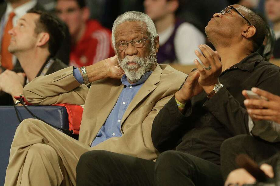 Former NBA player Bill Russell watches play during the skills competition at the NBA All Star basketball game, Saturday, Feb. 15, 2014, in New Orleans. (AP Photo/Gerald Herbert) Photo: Gerald Herbert, Getty Images / AP