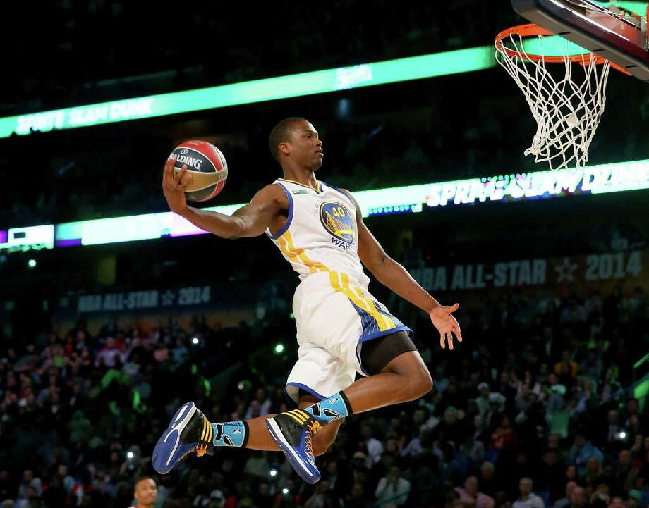 NEW ORLEANS, LA - FEBRUARY 15: Western Conference All-Star Harrison Barnes #40 of the Golden State Warriors competes in the Sprite Slam Dunk Contest 2014 as part of the 2014 NBA All-Star Weekend at the Smoothie King Center on February 15, 2014 in New Orleans, Louisiana. NOTE TO USER: User expressly acknowledges and agrees that, by downloading and or using this photograph, User is consenting to the terms and conditions of the Getty Images License Agreement. Photo: Ronald Martinez, Getty Images / 2014 Getty Images