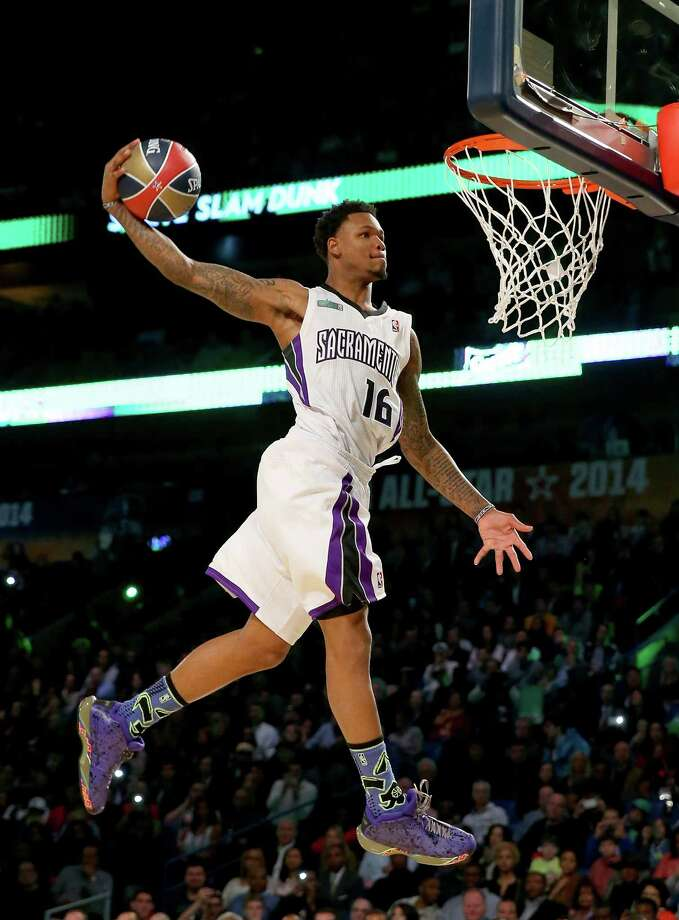 NEW ORLEANS, LA - FEBRUARY 15:  Western Conference All-Star Ben McLemore #16 of the Sacramento Kings competes in the Sprite Slam Dunk Contest 2014 as part of the 2014 NBA All-Star Weekend at the Smoothie King Center on February 15, 2014 in New Orleans, Louisiana. NOTE TO USER: User expressly acknowledges and agrees that, by downloading and or using this photograph, User is consenting to the terms and conditions of the Getty Images License Agreement. Photo: Ronald Martinez, Getty Images / 2014 Getty Images