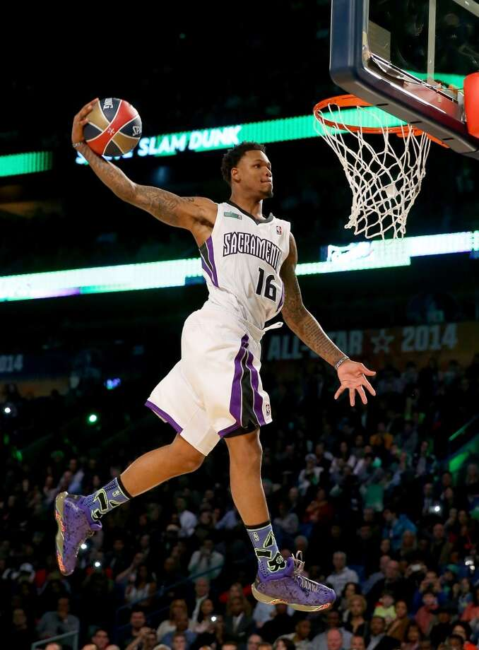 NEW ORLEANS, LA - FEBRUARY 15:  Western Conference All-Star Ben McLemore #16 of the Sacramento Kings competes in the Sprite Slam Dunk Contest 2014 as part of the 2014 NBA All-Star Weekend at the Smoothie King Center on February 15, 2014 in New Orleans, Louisiana. NOTE TO USER: User expressly acknowledges and agrees that, by downloading and or using this photograph, User is consenting to the terms and conditions of the Getty Images License Agreement.  (Photo by Ronald Martinez/Getty Images) Photo: Ronald Martinez, Getty Images