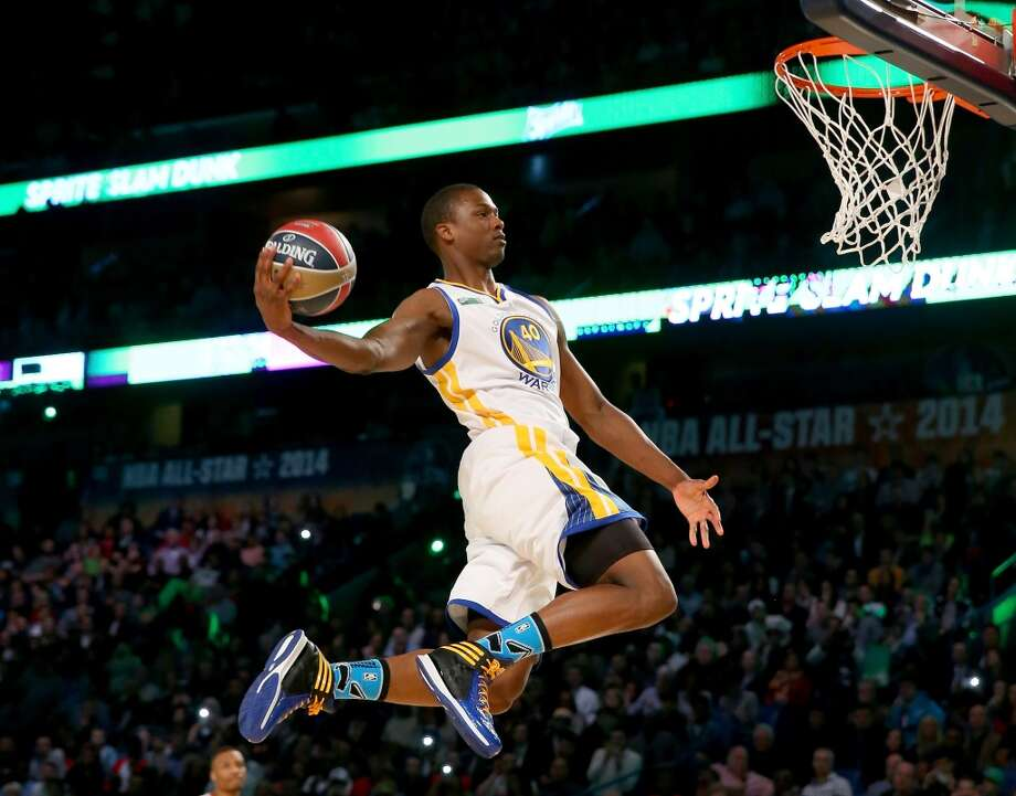 NEW ORLEANS, LA - FEBRUARY 15: Western Conference All-Star Harrison Barnes #40 of the Golden State Warriors competes in the Sprite Slam Dunk Contest 2014 as part of the 2014 NBA All-Star Weekend at the Smoothie King Center on February 15, 2014 in New Orleans, Louisiana. NOTE TO USER: User expressly acknowledges and agrees that, by downloading and or using this photograph, User is consenting to the terms and conditions of the Getty Images License Agreement.  (Photo by Ronald Martinez/Getty Images) Photo: Ronald Martinez, Getty Images