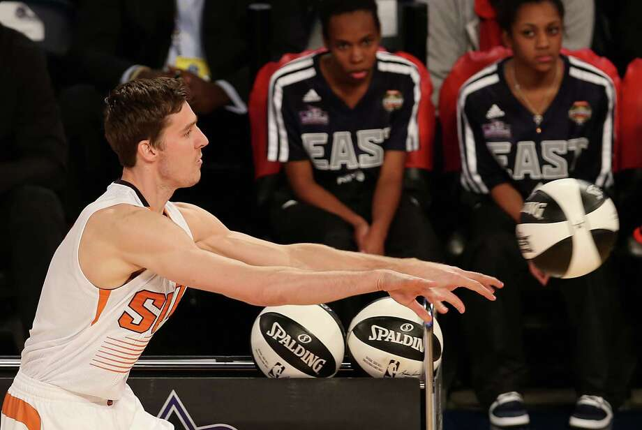 NEW ORLEANS, LA - FEBRUARY 15:  Western Conference All-Star Goran Dragic #1 of the Phoenix Suns competes in the Taco Bell Skills Challenge 2014 as part of the 2014 NBA All-Star Weekend at the Smoothie King Center on February 15, 2014 in New Orleans, Louisiana. NOTE TO USER: User expressly acknowledges and agrees that, by downloading and or using this photograph, User is consenting to the terms and conditions of the Getty Images License Agreement. Photo: Christian Petersen, Getty Images / 2014 Getty Images