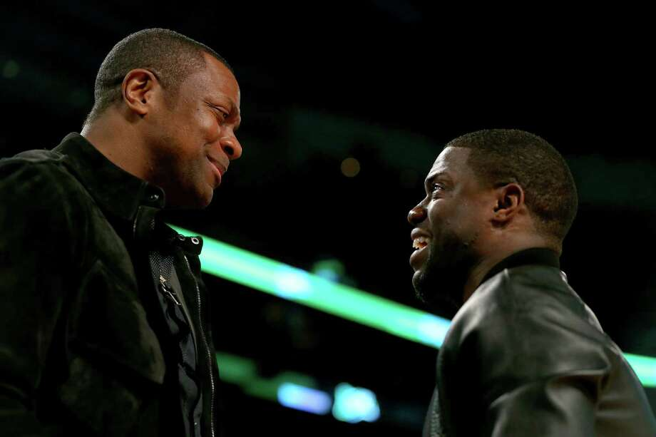 NEW ORLEANS, LA - FEBRUARY 15: Chris Tucker and Kevin Hart attend the Sprite Slam Dunk Contest 2014 as part of the 2014 NBA All-Star Weekend at the Smoothie King Center on February 15, 2014 in New Orleans, Louisiana. NOTE TO USER: User expressly acknowledges and agrees that, by downloading and or using this photograph, User is consenting to the terms and conditions of the Getty Images License Agreement. Photo: Ronald Martinez, Getty Images / 2014 Getty Images