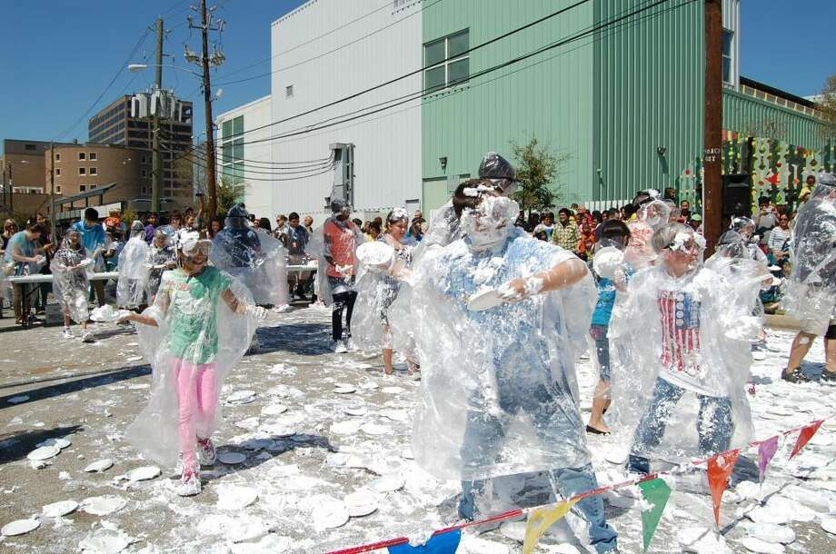 A foam fight is part of the planned Spring Break celebration at the Children's Museum of Houston. Photo: Provided