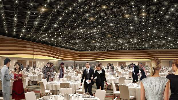 "The Convention Center's 60,000-square-foot ballroom will have a ""stars shine bright at night in Texas"" network of lighting on the ceiling. Photo: Courtesy Marmon Mok"