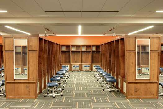 Marmon Mok designed the UTSA football team's locker room in the Alamodome. Photo: Courtesy Marmon Mok